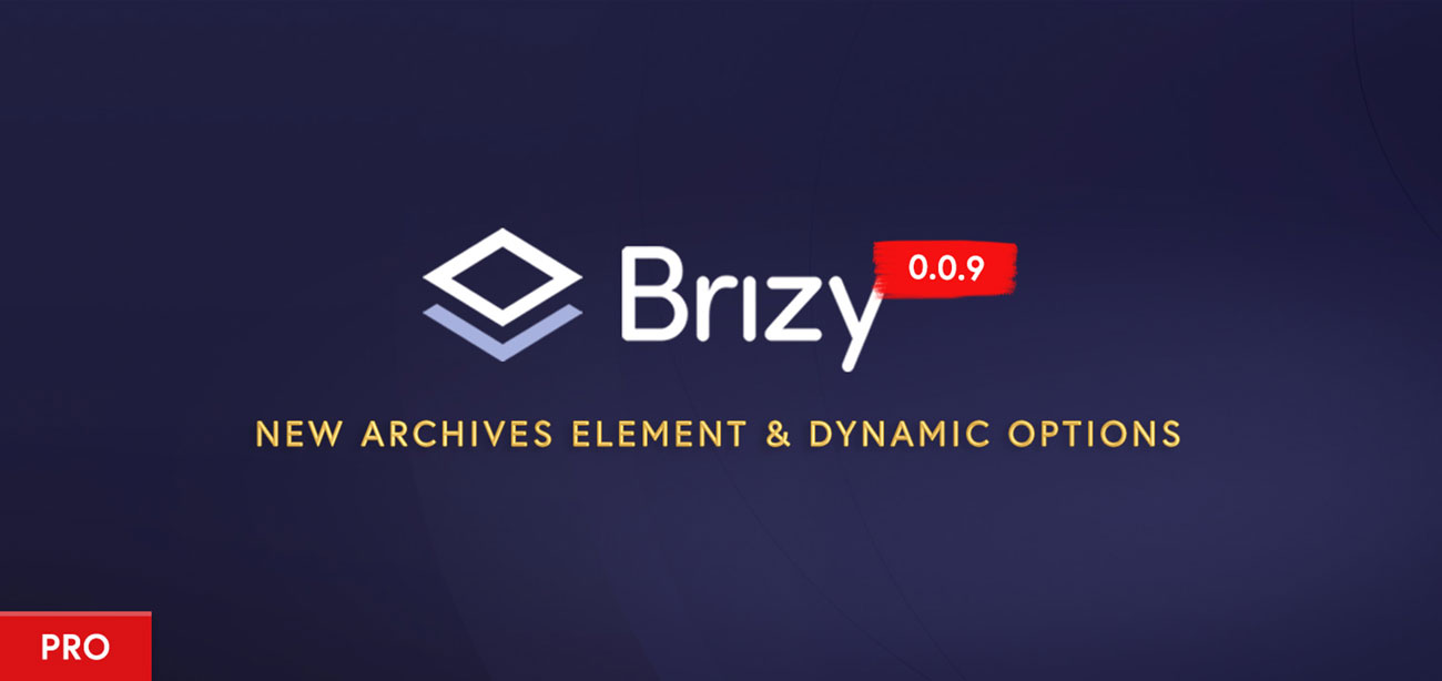 Brizy Pro Preview Build 0.0.9: New Archives Element, Dynamic Options for Carousel & More