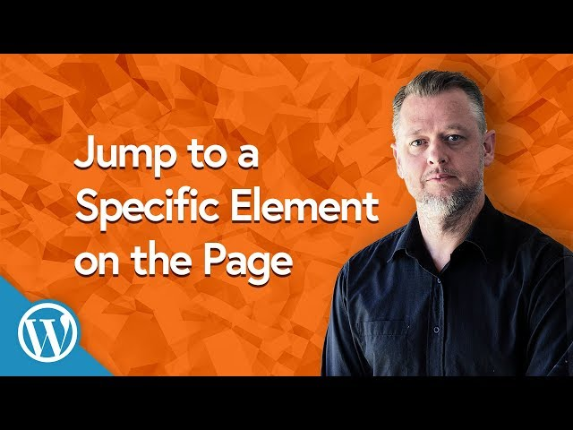 how to create a jump link to a specific block or element